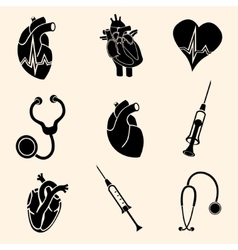 Heart doctor icon vector