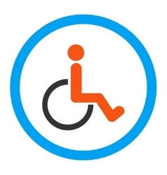 Disabled person rounded icon vector