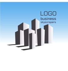 Logo business building vector