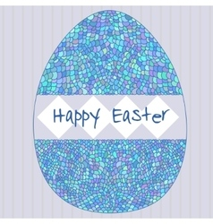 Happy easter poster with decorative egg vector
