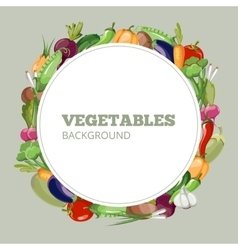 Eco food menu with cartoon vegetables vector image