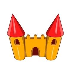 Fairy tale castle icon cartoon style vector