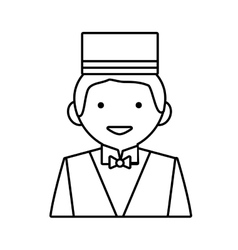 Bellboy icon hotel design graphic vector