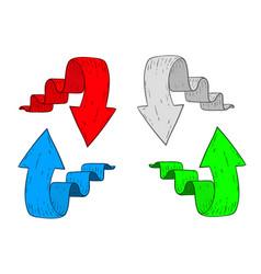 Arrows hand drawn sketch vector