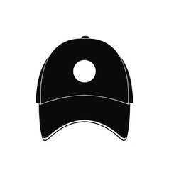 Baseball hat black simple icon vector image vector image