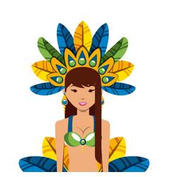 Brazilian dancer icon vector