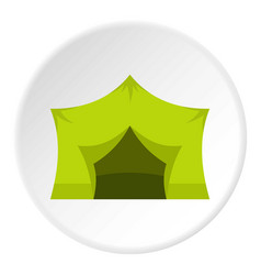 Camping equipment icon circle vector