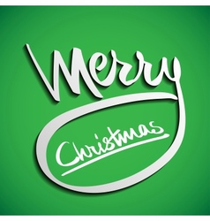 Christmas Greeting Card Hand lettering vector image vector image