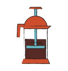 coffee jug vector image vector image