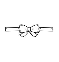 elegant bow vector image vector image