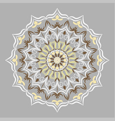 ethnic decorative round element lace patterns on vector image