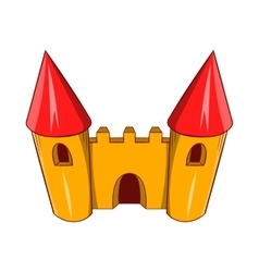 Fairy tale castle icon cartoon style vector