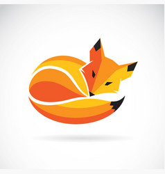 fox design on a white background wild animals vector image