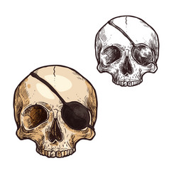 Halloween sketch icon skull skeleton vector