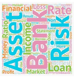 Is my money safe text background wordcloud concept vector