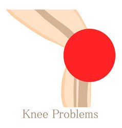 knee problem icon cartoon style vector image