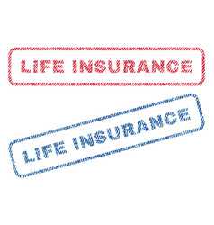 life insurance textile stamps vector image