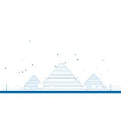 Outline pyramids in giza vector
