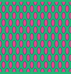 Oval geometric seamless pattern 2001 vector