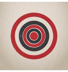 Paper target vector image vector image