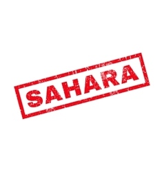 Sahara Rubber Stamp vector image