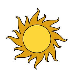 sun cartoon icon image vector image