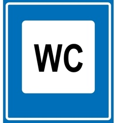 Toilet road sign on white background vector