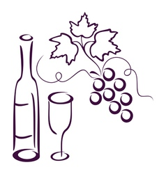 Vine still life vector
