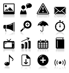 Website internet glossy sqaure icons set vector image vector image