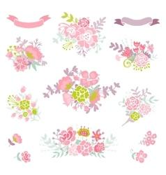 Wedding vintage elements vector image vector image