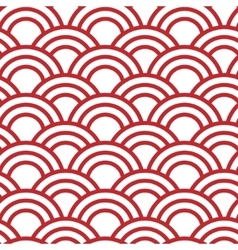Seamless wave japanese pattern vector
