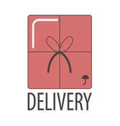 delivery service icon template for company vector image