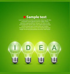 Idea light bulb on the background vector