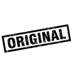 Square grunge black original stamp vector