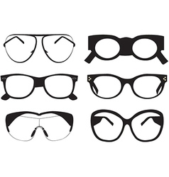 Black sunglasses icons vector