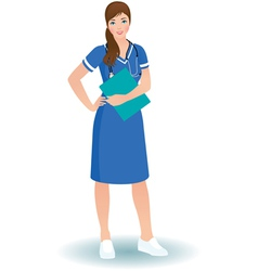 Women nurse or doctor in full length vector