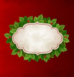 Christmas holly leaves vector