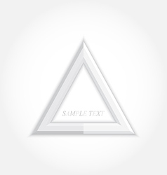 3d abstract background and triangle icon design vector image vector image