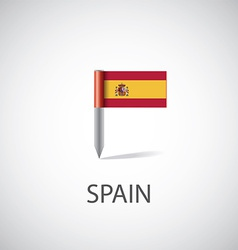 Spain flag pin vector