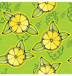 lemon raspberry pattern vector image