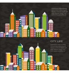 City in a flat style vector