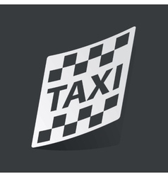 Monochrome taxi sticker vector