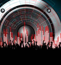 techno rave party vector image