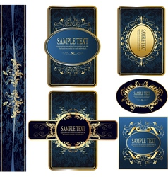 classic labels vector image