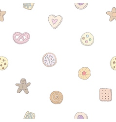 Seamless pattern of fancy cookies vector
