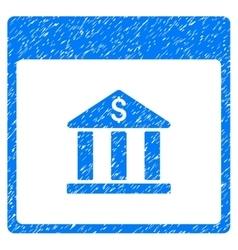 Bank building calendar page grainy texture icon vector