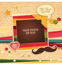 Birthday photo frame vector image vector image