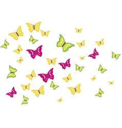 butterflies swarm vector image vector image