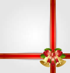 christmas gift ribbon with decoration vector image vector image