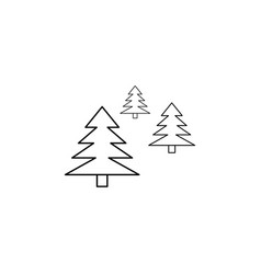 christmas trees park icon vector image vector image